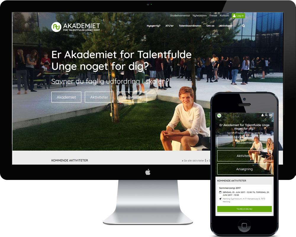Drupal hjemmeside ATUmidt