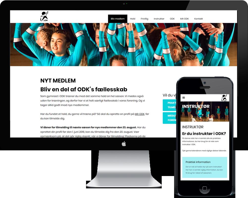 ODK Gymnastik forening hjemmeside