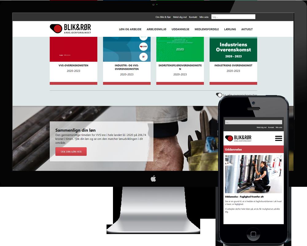 Ny hjemmeside til fagforeningen Blik og Rør
