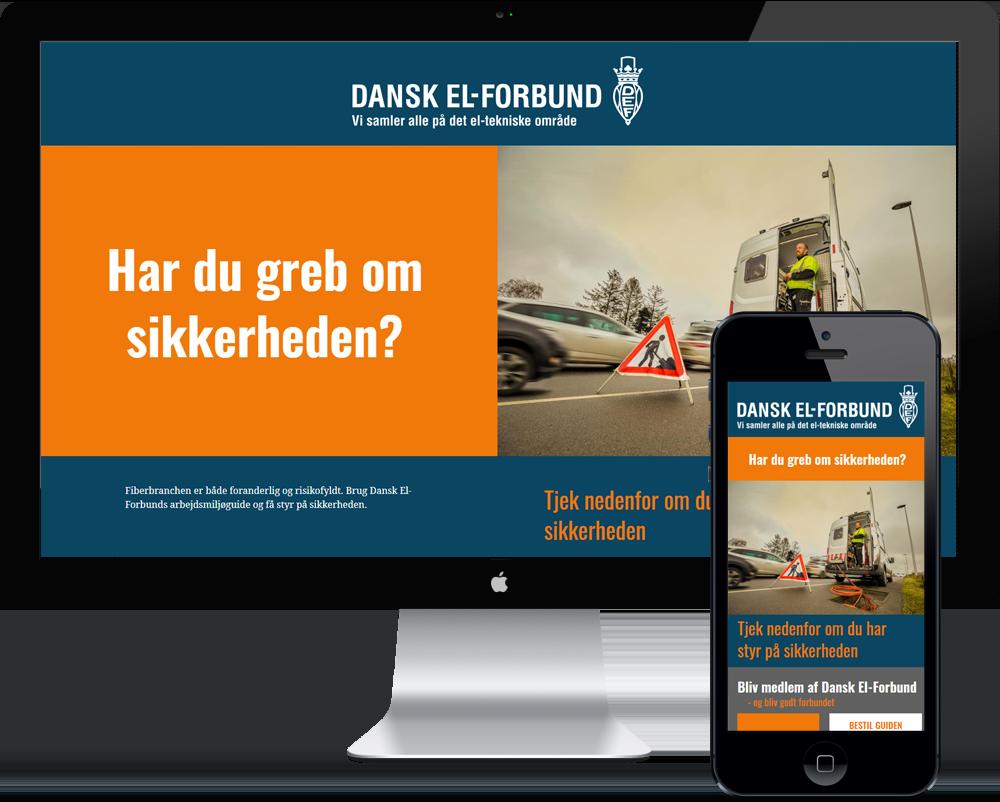 Landing page i ren HTML5 oplagt til kampagne hjemmesider